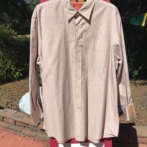 Faconnable Long-Sleeved Striped Cotton Shirt XL